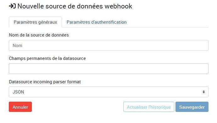 New WebHook information